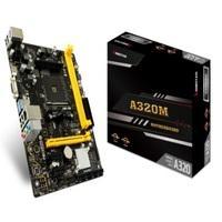 MB BIOSTAR A320 AMD S-AM4/ 2X DDR4 2933/REQUIERE TARJETA DE VIDEO/HDMI/VGA/ 3X USB 3.1/MICRO-ATX/GAMA BASICA