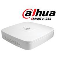 DVR Dahua de 4 canales penta-híbrido con grabación HDCVI /AHD/TVI/CVBS/IP. Color Blanco.