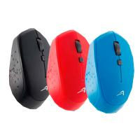 MOUSE INALAMBRICO USB ACTECK COLOR ROJO