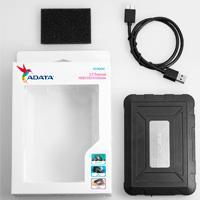 CARCASA ADATA ED600 PARA DISCOS DUROS/SSD 2.5 PULGADAS 7MM/9.5MM SATA3/USB3.1 NEGRO RESISTENTE A GOLPES Y AGUA CASE PC
