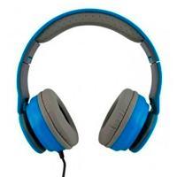 AUDIFONOS  MOBIFREE/ ACTECK ON-EAR CON MICROFONO COLECCION URBAN KAOS AZUL MB-916363