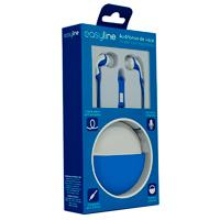 AUDIFONOS IN-EAR CON MICROFONO EASY LINE BY PERFECT CHOICE AZUL/BLANCO