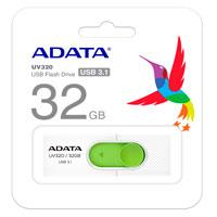 MEMORIA ADATA 32GB USB 3.1 UV320 RETRACTIL BLANCO-VERDE