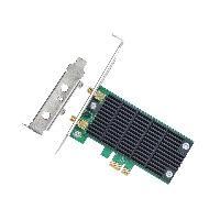 TARJETA DE RED PCI EXPRESS INALAMBRICA TP-LINK ARCHER T4E AC1200 5GHZ867MB/2.4GHZ300MB 2 ANT DESMONTABLES