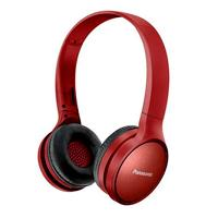 AUDIFONOS BLUETOOTH TIPO DIADEMA (ON-EAR) PANASONIC RP-HF410BPUR, COLOR ROJO, FUNCION MANOS LIBRES/MICROFONO, 24 HORAS DE REPRODUCCION CONTINUA, ULTRALIVIANOS