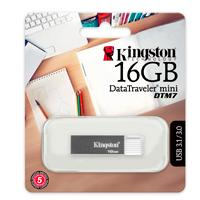 MEMORIA KINGSTON 16GB USB 3.1 DATATRAVELER MINI DTM7 GRIS