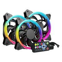 KIT 3 VENTILADORES OCELOT / GAMER/ 120MM/ RGB/ CON CONTROL PARA AJUSTE DE COLORES