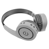 AUDIFONOS ON-EAR INALAMBRICOS MANOS LIBRES CON BT FM SD 3.5MM EASY LINE BY PERFECT CHOICE GRIS