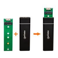 GABINETE SDD M.2,MANHATTAN USB V3.0 NEGRO