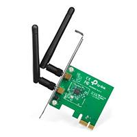 TARJETA DE RED PCI EXPRESS X1 INALAMBRICA TP-LINK TL-WN881ND WIRELESS 802.11N/G/B 300MBPS 2 ANTENAS DESMON 2DBI