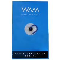 BOBINA UTP CAT.5E WAM/ CONDUCTOR CCA/305 MTS/USO INTERIOR/CUBIERTA COLOR AZUL