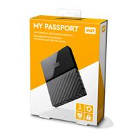 DD EXTERNO PORTATIL 1TB WD MY PASSPORT NEGRO 2.5/USB3.0/COPIA LOCAL/ENCRIPTACION/WIN