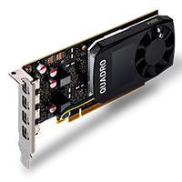 T. DE VIDEO PNY NVIDIA QUADRO P1000/PCIE X16 3.0/4GB GDDR5/4 MDP 1.4/DP/DVI/BAJO PERFIL/GAMA ALTA/DISEÑO