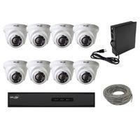 KIT DE CCTV HD GVS SECURITY / DVR 8CH / 8 CAMARAS TIPO DOMO ALTA DEFINICION 1080P / 1 FUENTE DE PODER / 1 CABLE UTP CAT5 / NO INCLUYE TRANCEPTORES NI DISCO DURO