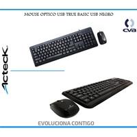 TECLADO/MOUSE TRUE BASIX TK-210 MOUSE 800 DPI / USB NEGRO KB-533
