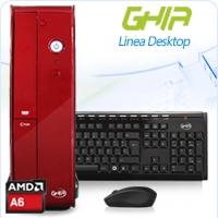 GHIA DESKTOP AMD A6-6400K DUAL CORE 3.9GHZ-4.1GHZ/4GB/1TB/DVD+RW/LM6-1/SFF-R GHIA AMD APU A SERIES