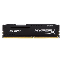 MEMORIA KINGSTON UDIMM DDR4 4GB 2133MHZ HYPERX FURY BLACK CL14 288PIN 1.2V P/PC KINGSTON HX421C14FB/
