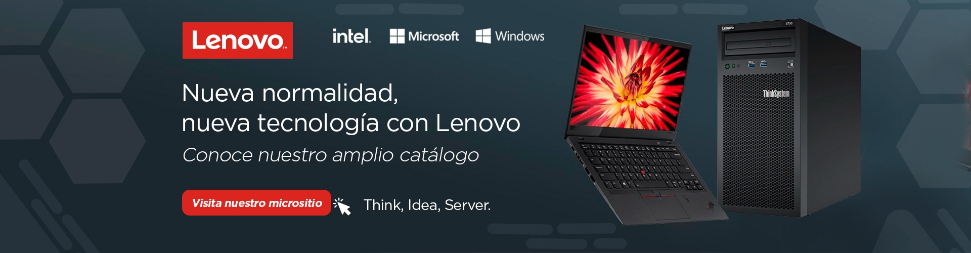 micrositio lenovo catalogo productos servidores think idea