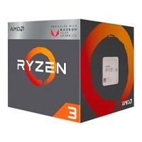 CPU AMD RYZEN 3 2200G S-AM4 65W 3.5GHZ TURBO 3.7GHZ CACHE 6MB 4CPU 8GPU CORES /  VENTILADOR AMD WRAI