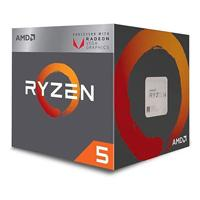 CPU AMD RYZEN 5 2400G S-AM4 65W 3.6GHZ TURBO 3.9GHZ CACHE 6MB 4CPU 11GPU CORES /  VENTILADOR AMD WRA