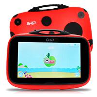 TABLET GHIA KIDS 7 GTABKIDSR /QUAD CORE/1GB/8GB/2CAM/WIFI/BLUETOOTH/ANDROID 8.1 GO EDITION /CATARINA ROJA CON NEGRO