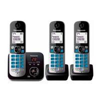 TELEFONO INALAMBRICO KX-TG6822MEB BASE 2 EXTENCIONES CON CONTESTADORA DIGITAL PANASONIC KX-TG6823MEB
