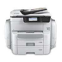MULTIFUNCIONAL EPSON WORKFORCE PRO WF-C869R, PPM 35 NEGRO/COLOR, USB, WIFI, RED, FAX, DUPLEX, DOBLE CARTA (A3), CONSUMIBLE BOLSA