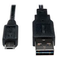 CABLE USB 2.0 TRIPP-LITE UR050-001-24G DE ALTA VELOCIDAD (REVERSIBLE TIPO (A) CONECTOR 2 MICRO (B) DE 5 PINES M/M), 0.305 M [1 PIE]