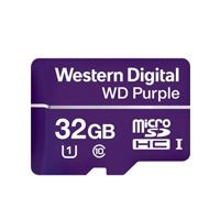 MEMORIA WD 32GB MICRO SDHC PURPLE VIDEOVIGILANCIA 24 / 7  CLASE 10 LECT 80MB / S ESC 50MB / S WD - W