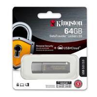 MEMORIA KINGSTON 64GB USB 3.0 DATATRAVELER LOCKER G3  / HARDWARE DE ENCRIPTACIN  / USB TO CLOUD /  G