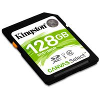 MEMORIA KINGSTON SDXC CANVAS SELECT 128GB UHS-I CLASE 10 KINGSTON SDS/128GB