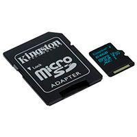 MEMORIA KINGSTON MICRO SDHC CANVAS GO! 64GB UHS-I U3 CLASE 10 C/ADAPTADOR
