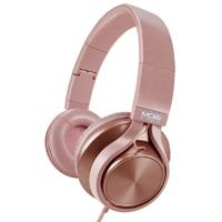 AUDIFONOS ON-EAR CON MICROFONO MOBIFREE COLECCION METALICOS COLOR ROSA MM-300