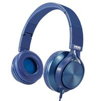 AUDIFONOS ON-EAR CON MICROFONO MOBIFREE COLECCION METALICOS COLOR AZUL MM-300