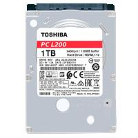 DD INTERNO TOSHIBA L200 2.5 1TB//SATA3//6GB/S //128MB CACHE//5400RPM//7MM//P/NOTEBOOK//PORTATIL//LAPTOP