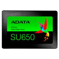 UNIDAD DE ESTADO SOLIDO SSD ADATA SU650 480GB 2.5 SATA3 7MM LECT.520/ESCR.450MBS SIN BRACKET PC LAPTOP