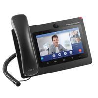 TELEFONO IP ANDROID DE VIDEOCONFERENCIA GIGABIT CON 16 CUENTAS SIP,PANTALLA TACTIL CAPACITIVA DE 7 PULGADAS,AUDIO HD,WIFI DOBLE BANDA,BLUETOOTH.