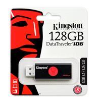 MEMORIA KINGSTON 128GB USB 3.0 ALTA VELOCIDAD / DATATRAVELER 106 NEGRO/ROJO