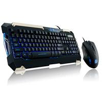 KIT TECLADO Y MOUSE THERMALTAKE COMMANDER LED/NEGRO/2400 DPI/USB
