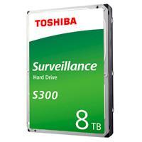 DD INTERNO TOSHIBA S300 3.5 8TB//SATA3//6GB/S//CACHE 256MB//7200 RPM//24X7 P/DVR/NVR/1-8 BAHIAS//1-64 CAMARAS