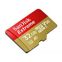 MEMORIA SANDISK EXTREME 32GB MICRO SDHC 100MB/S 4K CLASE 10 A1 V30 C/ADAPTADOR
