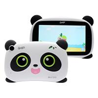 TABLET GHIA KIDS PANDA 7 PULGADAS/QUAD CORE/1GB/8GB/2CAM/WIFI/BLUETOOTH/2500mAh/ANDROID 8.1 GO EDITION / BLANCO CON NEGRO OJOS VERDES