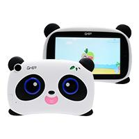 TABLET GHIA KIDS PANDA 7 PULGADAS/QUAD CORE/1GB/8GB/2CAM/WIFI/BLUETOOTH/2500mAh/ANDROID 8.1 GO EDITION / BLANCO CON NEGRO OJOS AZULES