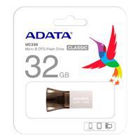 MEMORIA ADATA 32GB OTG USB 2.0/MICRO USB UC330 NEGRO-PLATA ANDROID