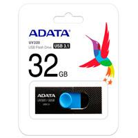 MEMORIA ADATA 32GB USB 3.1 UV320 RETRACTIL NEGRO-AZUL