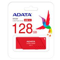 MEMORIA ADATA 128GB USB 3.1 UV330 RETRACTIL ROJO