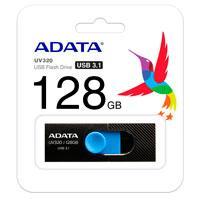 MEMORIA ADATA 128GB USB 3.2 UV320 RETRACTIL NEGRO-AZUL
