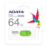 MEMORIA ADATA 64GB USB 3.1 UV320 RETRACTIL BLANCO-VERDE
