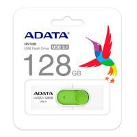 MEMORIA ADATA 128GB USB 3.2 UV320 RETRACTIL BLANCO-VERDE