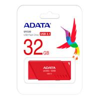 MEMORIA ADATA 32GB USB 3.1 UV330 RETRACTIL ROJO